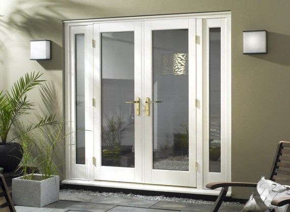 White french doors with sidelites interior barn doors for Interior french patio doors