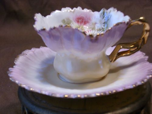 Germany RS Prussia Demi Tasse Cup and Saucer eBay Tea Parties - edles geschirr besteck porzellan silber