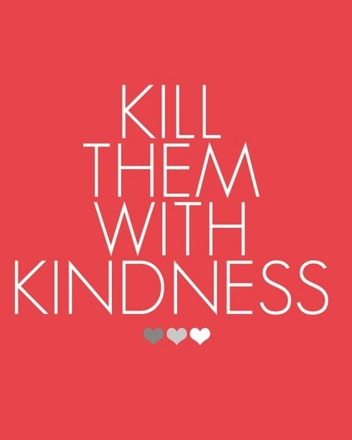 As we discussed on Mom Central's #momchat earlier this week, Random Acts of Kindness day wraps up RAK Week today. The Random Acts of Kindness Foundation supports killing them with kindness, do you?