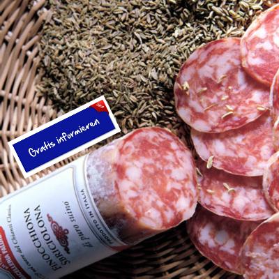 Milde Salami aus Schwein nach Art von Greve in Chianti. Hier klicken: http://blogde.rohinie.com/2013/01/wurst/ #Italien #Toskana #Fenchelsalami #Rotwein