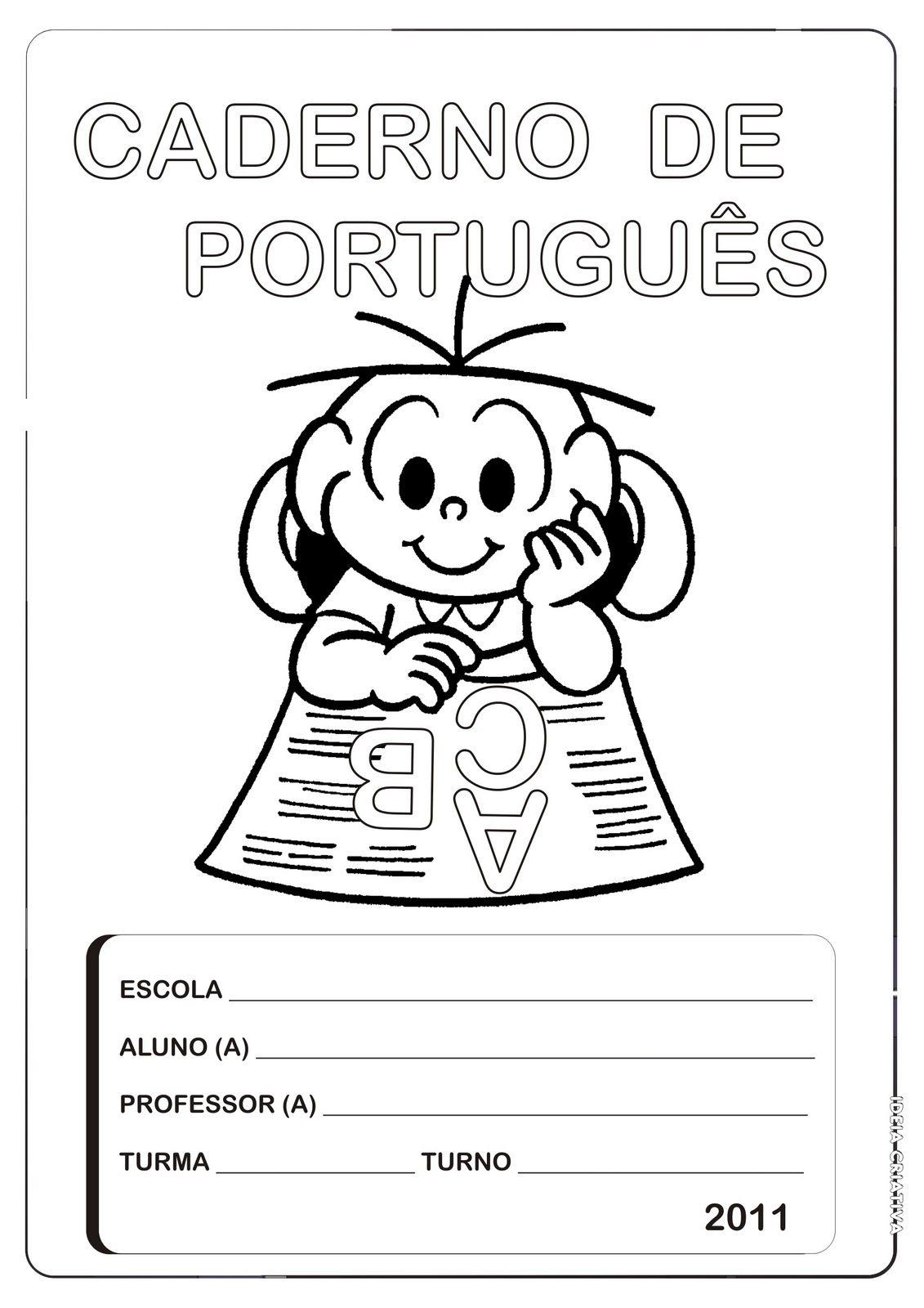 Capas De Caderno Para Imprimir E Colorir Capa De Caderno
