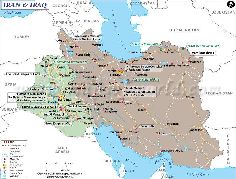 Map of iraq and iran i maps pinterest iran asia map and asia map of iraq and iran gumiabroncs Choice Image