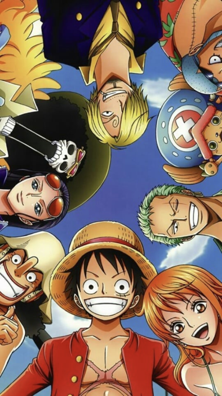 STICKER AUTOCOLLANT POSTER A4 MANGA ONE PIECE.LUFFY TEAM EQUIPAGE TOUS-ALL PERSO Film, tv-series, strips
