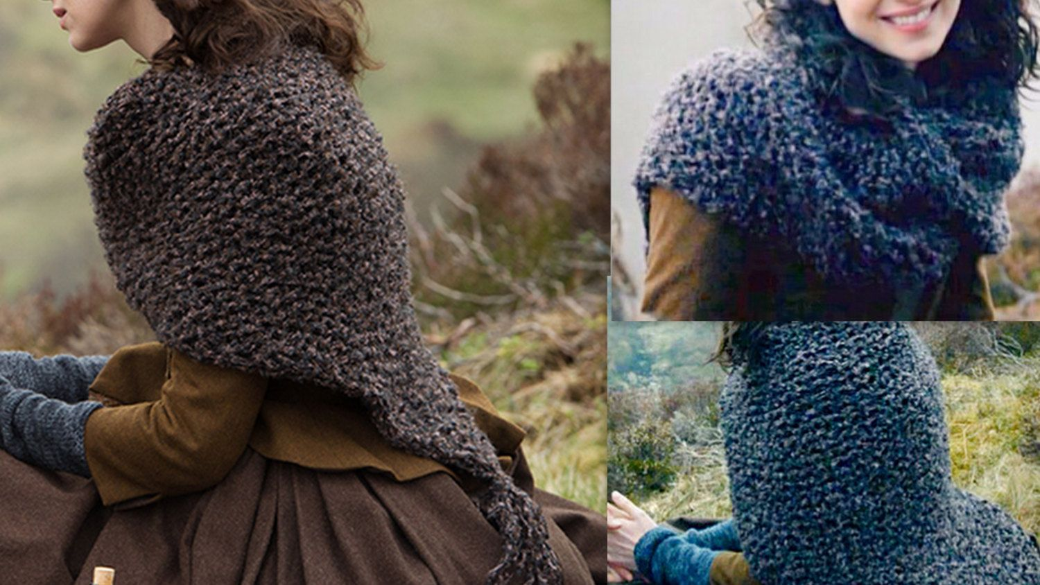 DIY Kit: Knit your Outlander Knit Shawl Claires Shawl /Shoulder Wrap- Be...