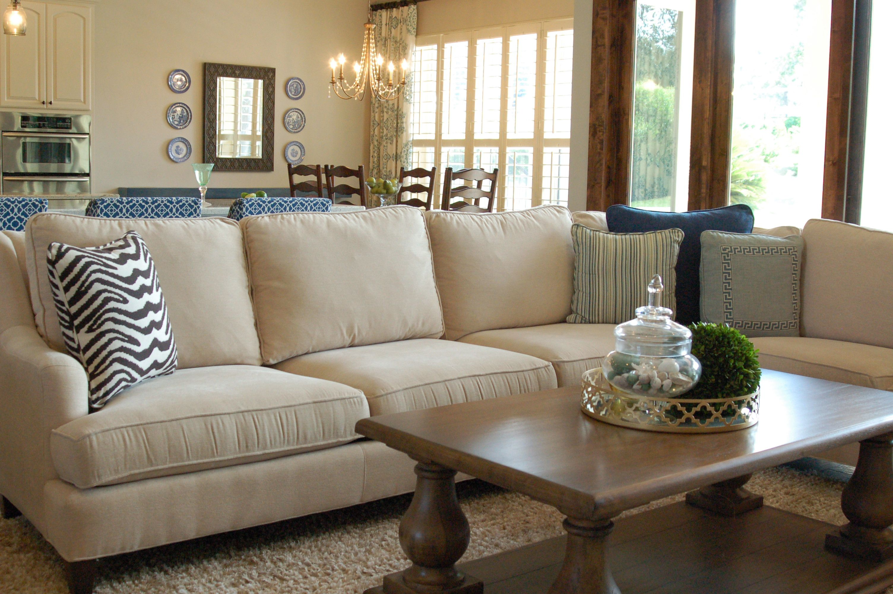 This Taylor King sectional is a cozy gathering spot in the living