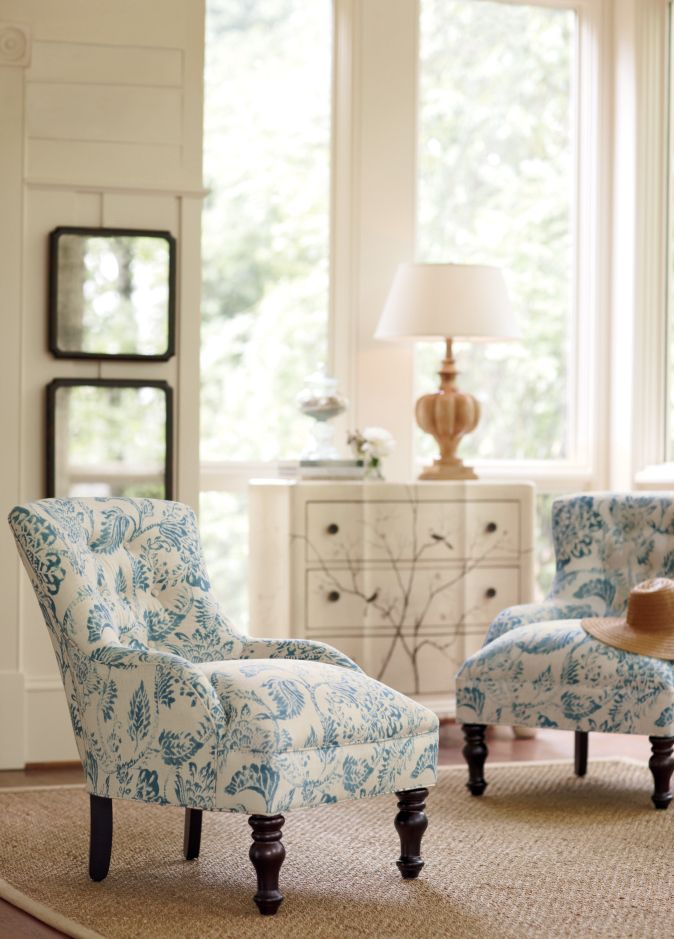I love the color and pattern on these chairs. HomeDecorators.com #homedecorators