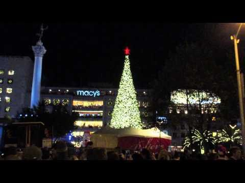 Tree Lighting Ceremony Union Square San Francisco California 2015
