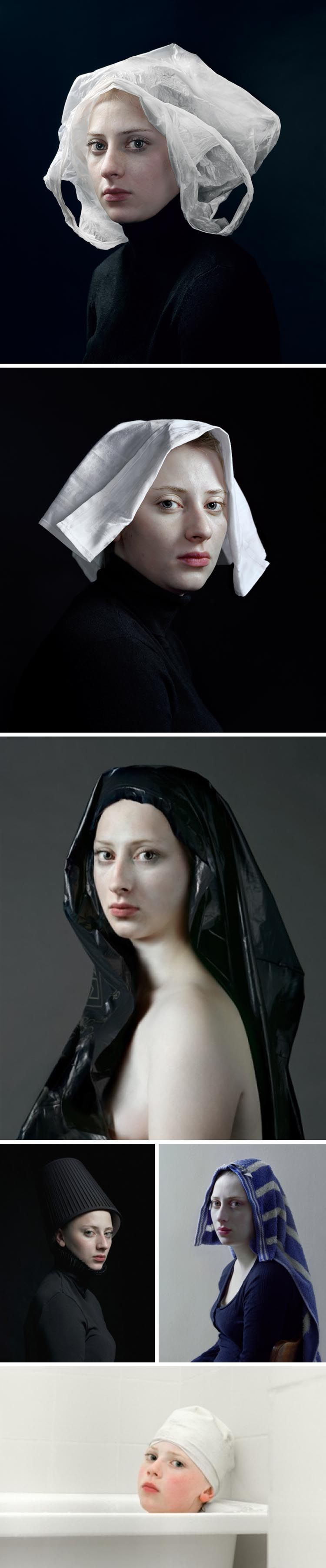 Hendrik Kerstens - Paula Pictures, Dutch Master style contemporary photographs with humorous headdresses