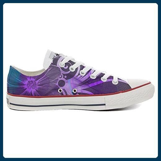 Converse Custom Slim personalisierte Schuhe (Handwerk Produkt) Black  White Paisley  38 EU