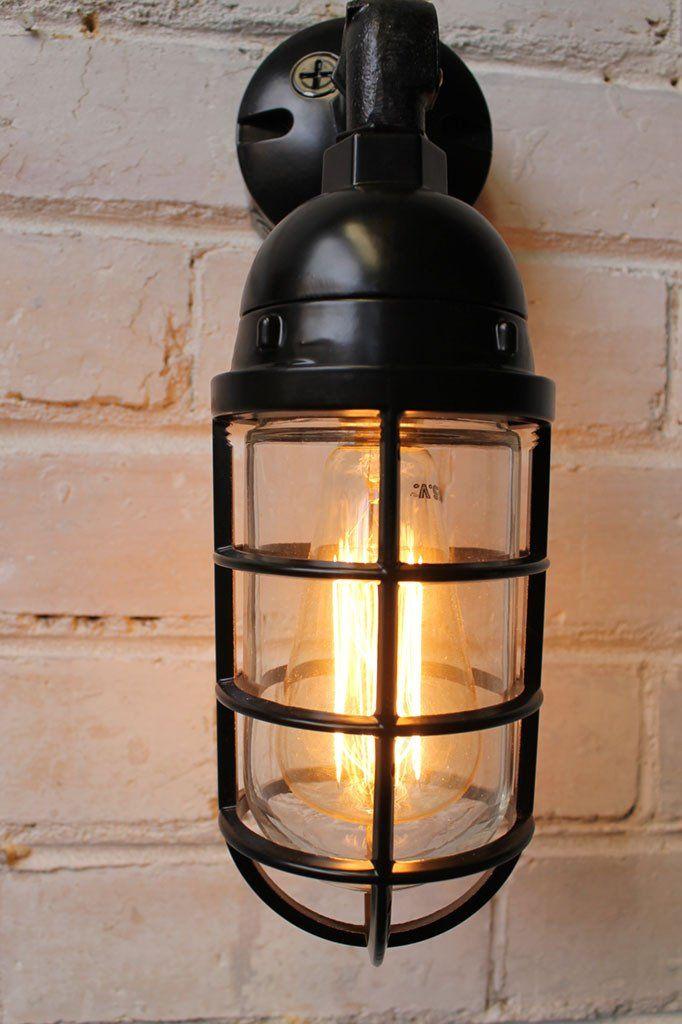 bunker cage wall light lighting products pendant lighting and bulbs