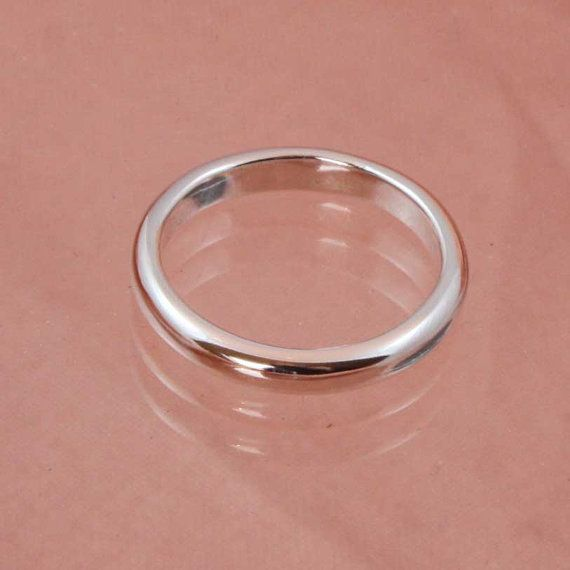 3 mm D Section Ring by jscapper on Etsy, £10.00