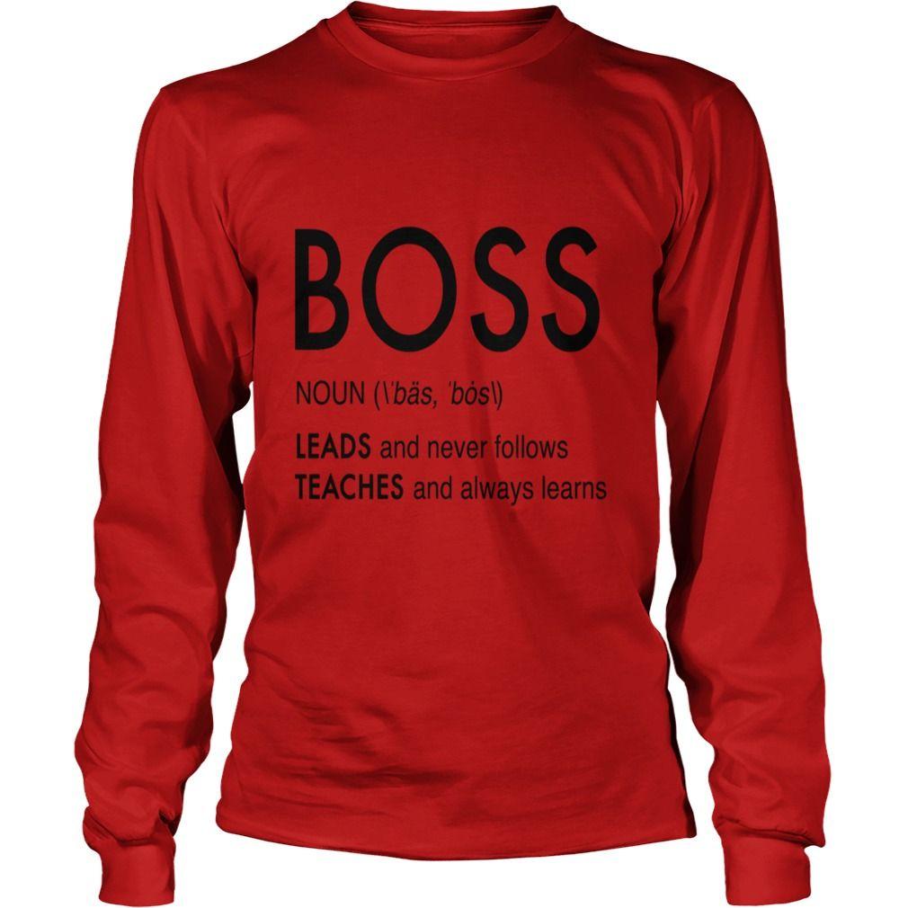 The definition of a boss tshirt mens premium tshirt gift
