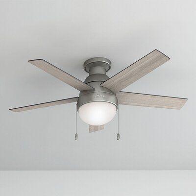 Hunter Fan 46 Anslee 5 Blade Ceiling Fan Light Kit Included