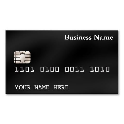 Credit card style business card 2 sided black business cards and credit card style business card 2 sided black colourmoves