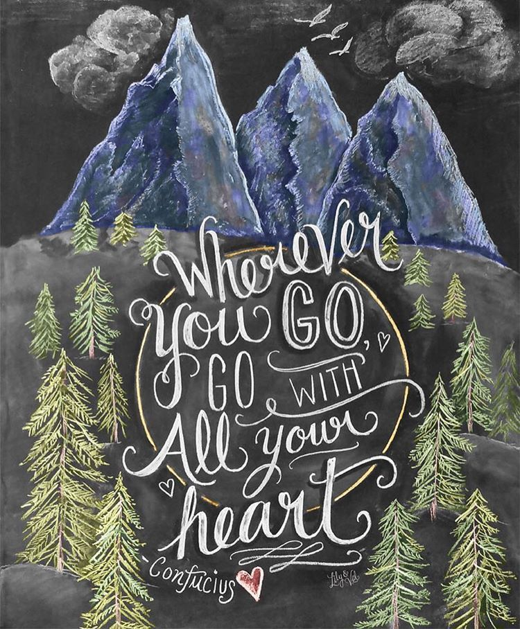 Exquisite Chalkboard Inspirational Calligraphy by Valerie McKeehan
