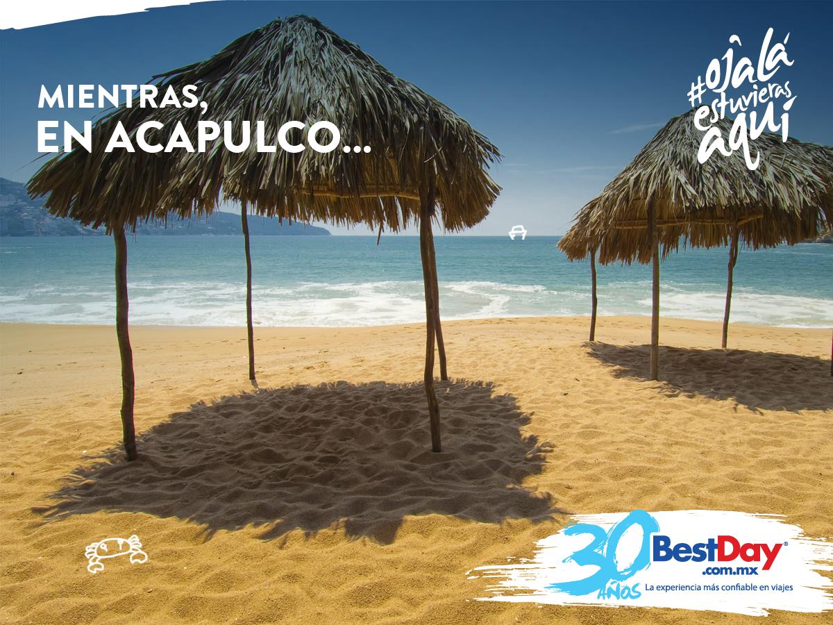 ¿Las preocupaciones no te dejaron dormir, otra vez? #BestDay #OjalaEstuvierasAqui #Acapulco