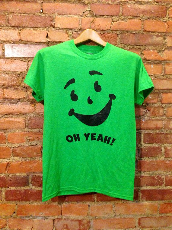 Pin On Kool Aid Face Oh Yeah Green Apple T Shirt Unisex Green Multiple Colors Available