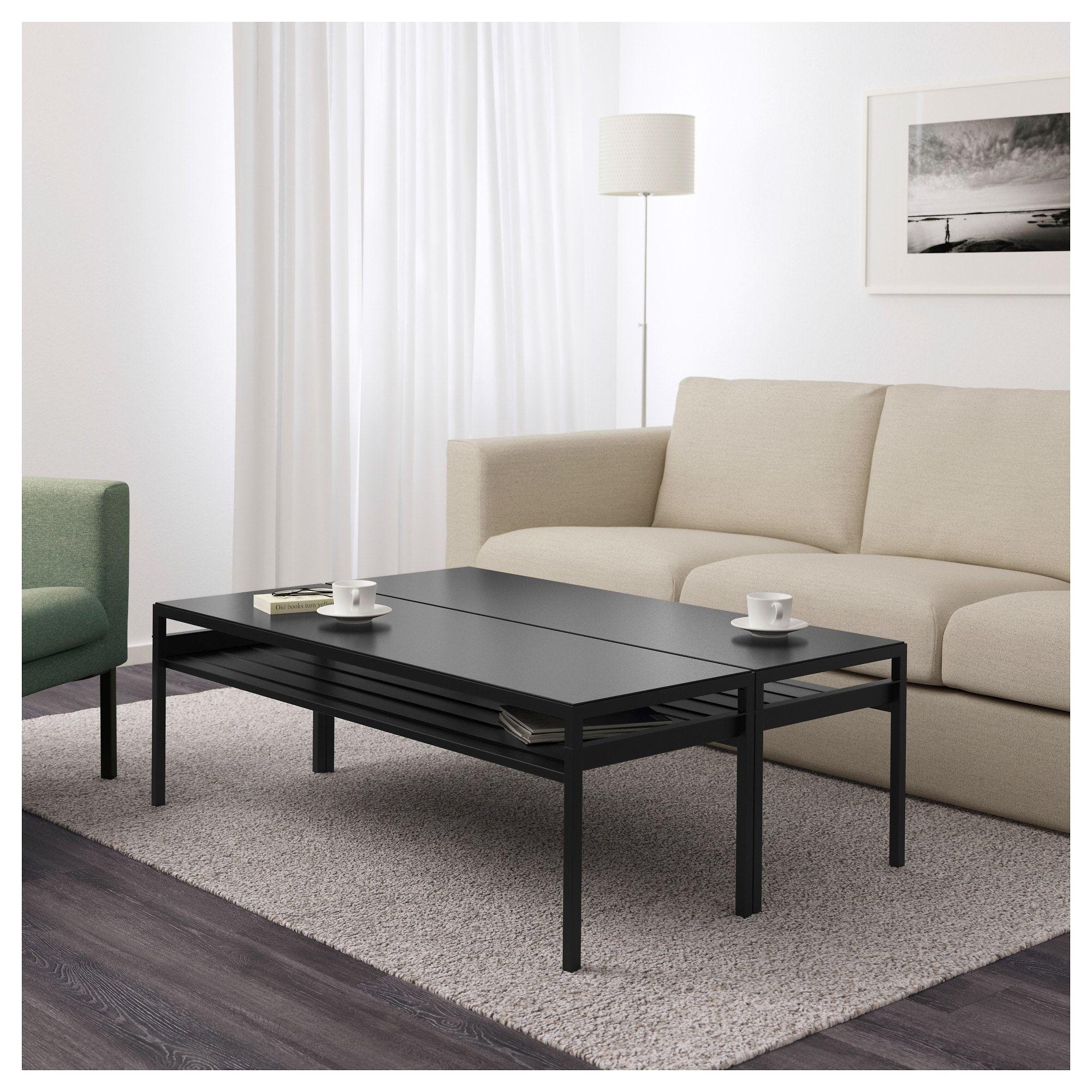 Incredible Ikea Nyboda Black Beige Coffee Table W Reversible Table Top Machost Co Dining Chair Design Ideas Machostcouk