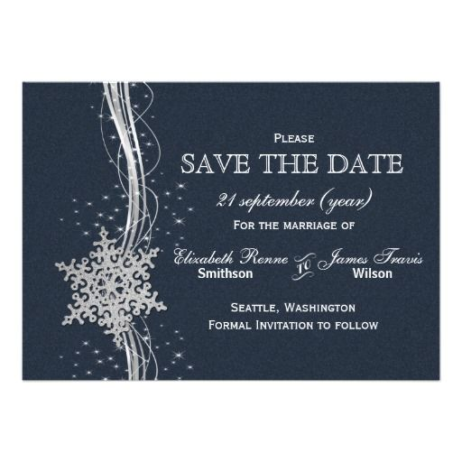 440 Winter And Snowflake Save The Date