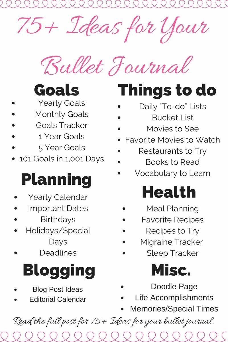 15 Ideen für das Bullet-Journal für das neue Jahr