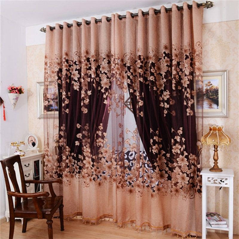 Curtains Curtain Picture More Detailed Picture About 1 Pc Cloth Curtain And 1 Pc Tulle European Style Luxury Curtain Floral Embroidered Tulle Sheer Decoracao