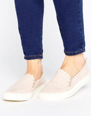 Faith Kenny Blush Scallop Edge Sneakers