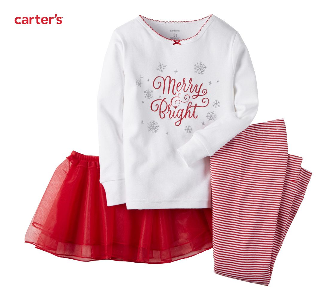 Merry Bright Tutu Too Pjs Carters Baby Girl
