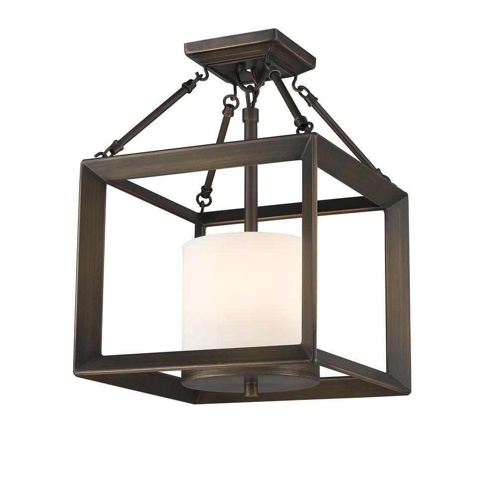Goldenlightinglights Smyth Three Light Convertible Semi Flush