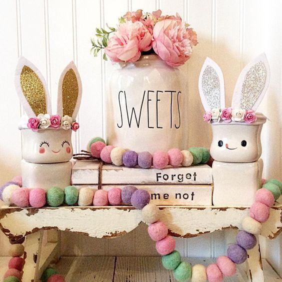 15 Farmhouse Style Rustic Easter Decorations Ideas Easter Crafts