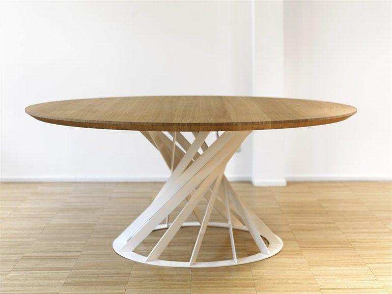 Mesa redonda de comedor de madera colecci n twist by - Mesa madera diseno ...