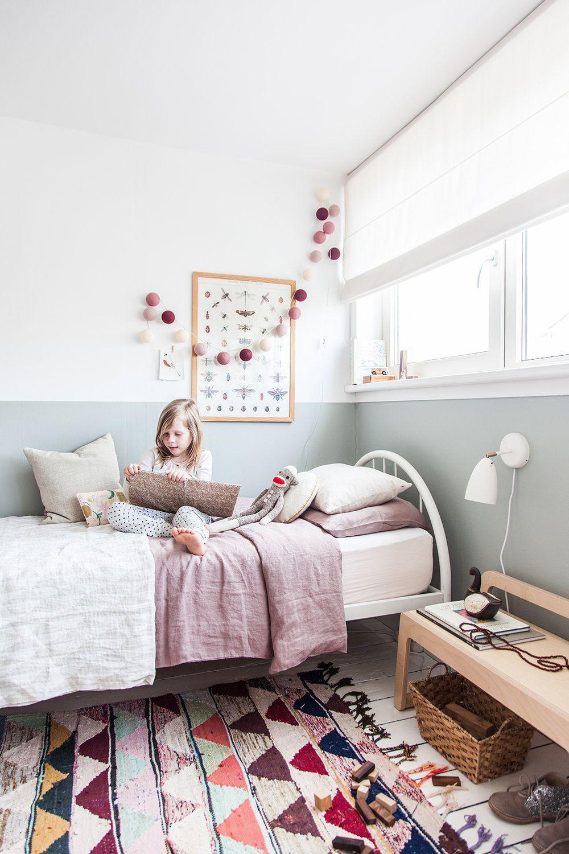 Ikea wardrobe hack in charming little girls bedroom