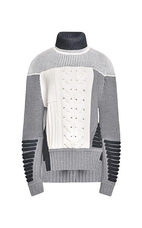 Mixed Intarsia Split Hem Sweater by Prabal Gurung for Preorder on ...