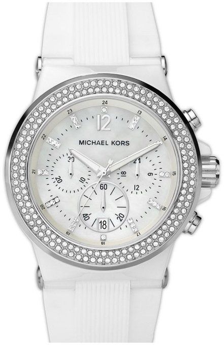 bf2ce3110ad7 Michael Kors Bel Aire Chronograph Ceramic and Silicone Ladies Watch MK5392