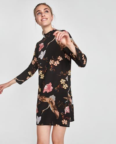 Vestido Estampado Oriental última Semana Mujer Zara México