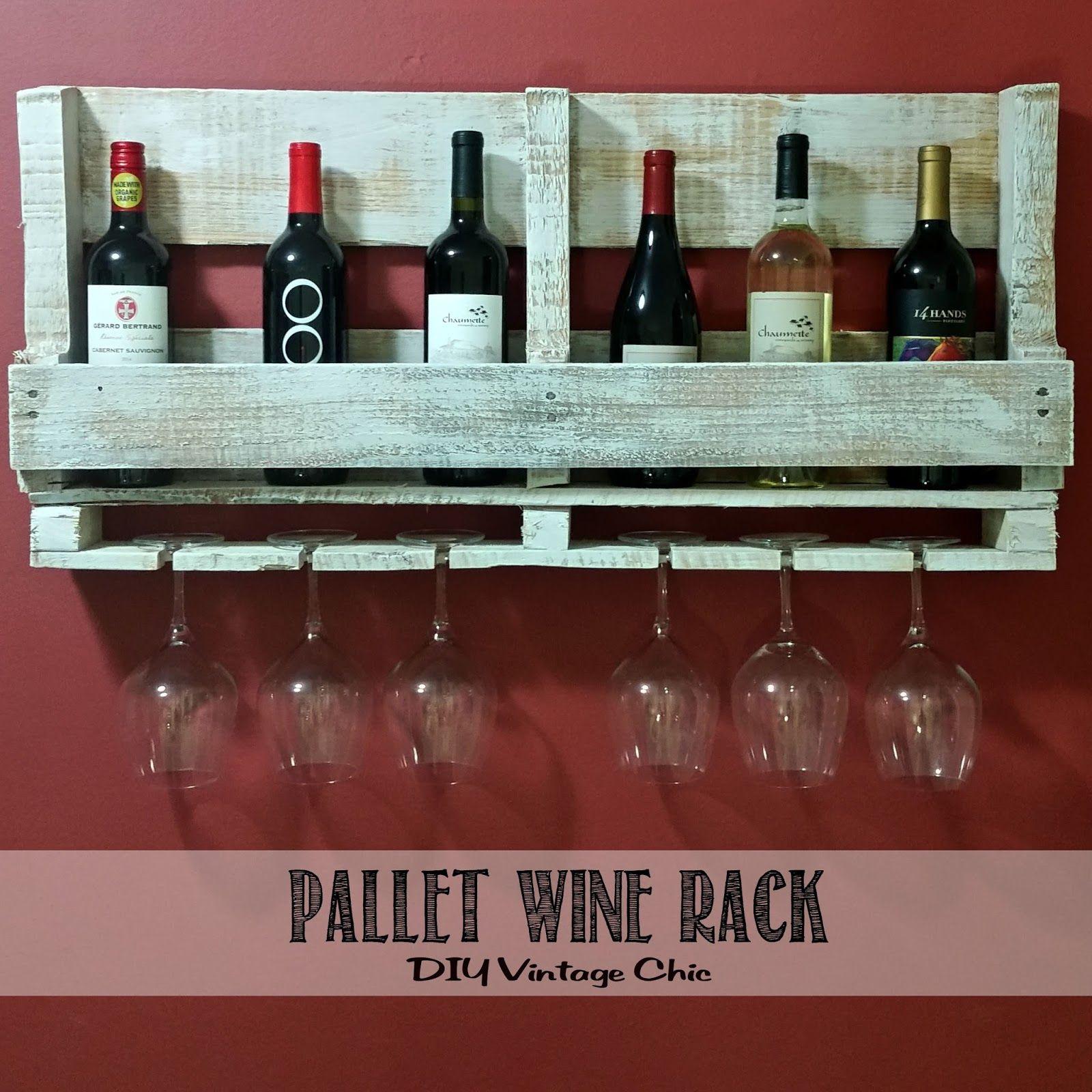 Ordinary Pallet Wine Rack Part - 13: DIY Vintage Chic: Pallet Wine Rack