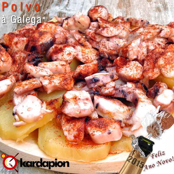 Da Culinária Espanhola para você, Polvo à Galega. Acesse e saiba onde comer. www.kardapion.com/comer-polvo-a-galega