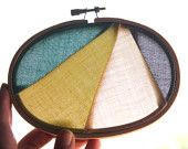 Embroidery hoop suncatcher by iSewpose. Hang in front of a window to add color to a room :)