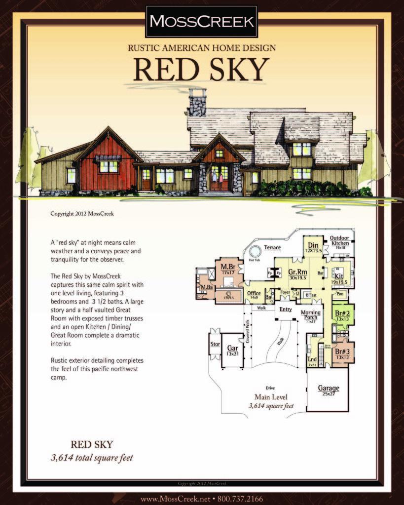 www.MossCreek.net Rustic American Home Design - log cabin, log home ...