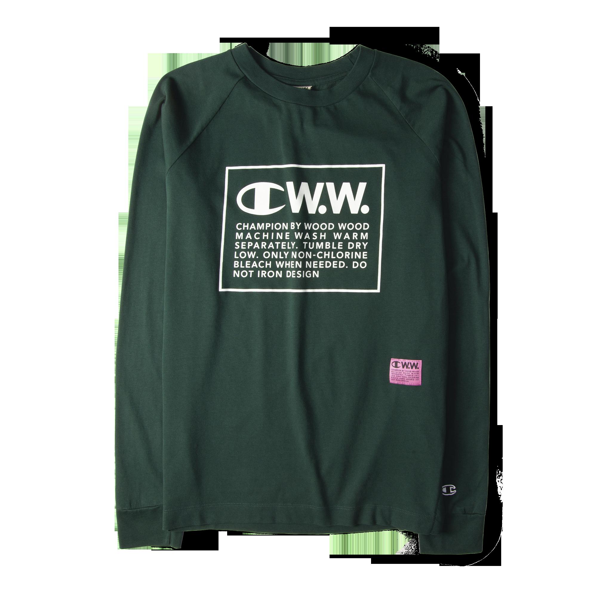 0157bacca139 Champion X Wood Wood Long Sleeve Box Logo Tee Green Free SHIPPING OVER  £50.00 #grants #1856 #grants1856