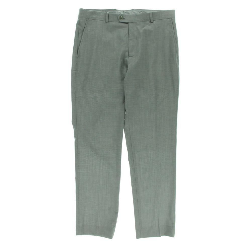 Bar Iii New Gray Wool Slim Fit Pattern Dress Pants Trousers 38 32 Bhfo Slim Fit Dress Pants Patterned Dress Pants Dress Pants