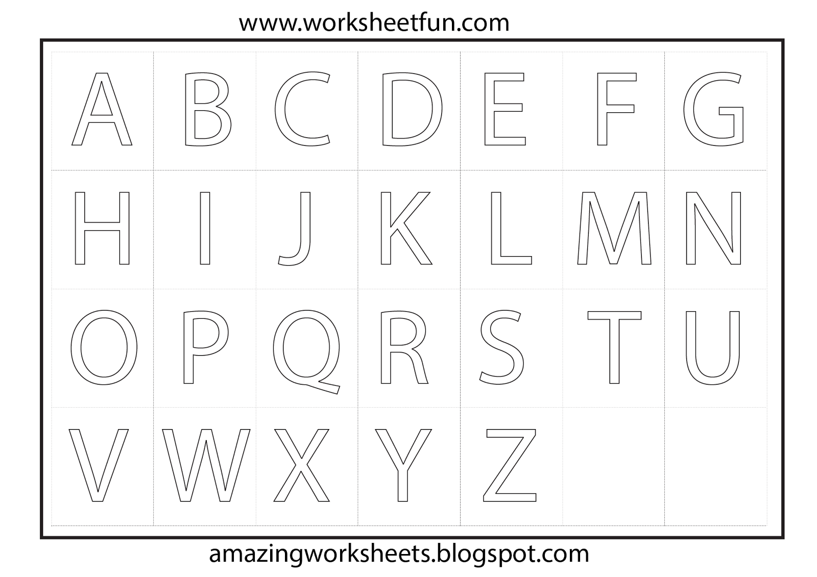 Preschool Worksheets To Print