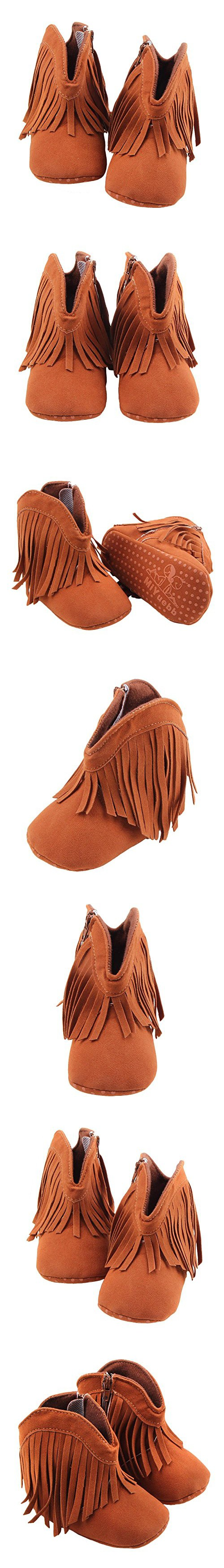 Itaar Baby Girls Boots Tassel Soft Bottom Non-slip Winter Warm Infant Toddler Shoes