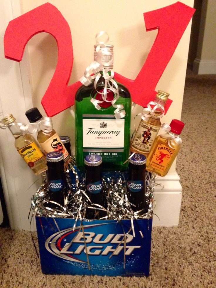 21st Birthday Gifts For Guys Man 21 Bday Ideas Liquor Gift Baskets
