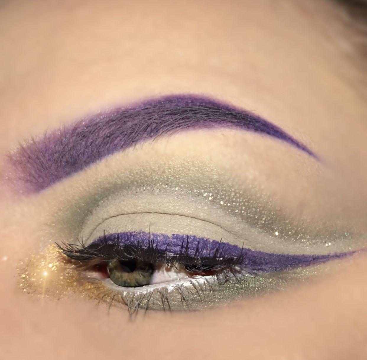 Mardi Gras Eye Look Festivemakeup Mardigras Purple