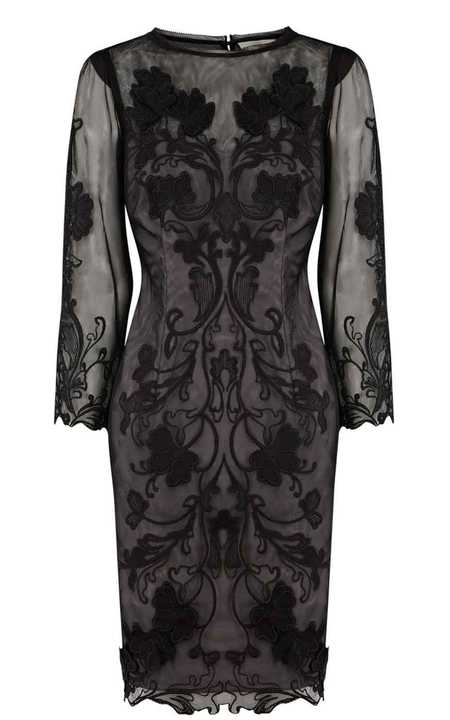 Karen millen d baroque floral lace dress black baroque dresses
