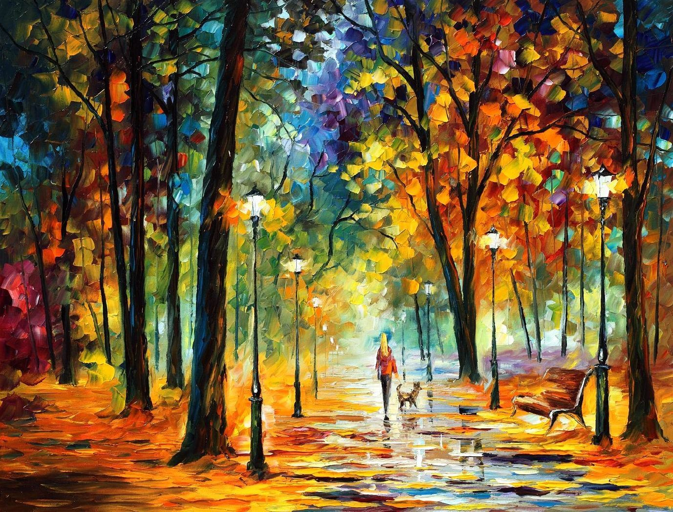 Leonid afremov oil on canvas palette knife buy original for Atlanta oil painting artists