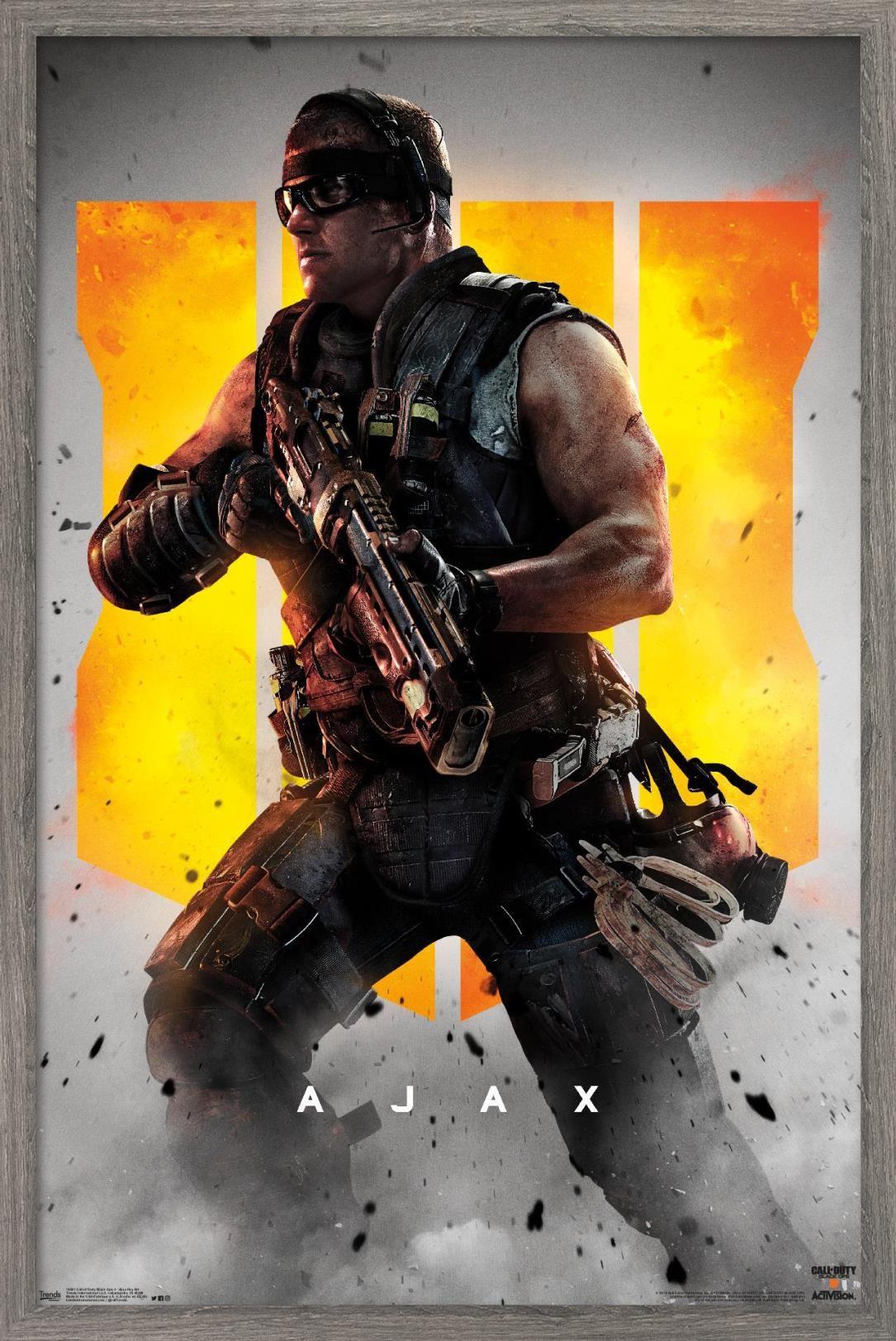 Call Of Duty Black Ops 4 Ajax Key Art Poster Walmart Com In 2021 Black Ops 4 Black Ops Call Of Duty