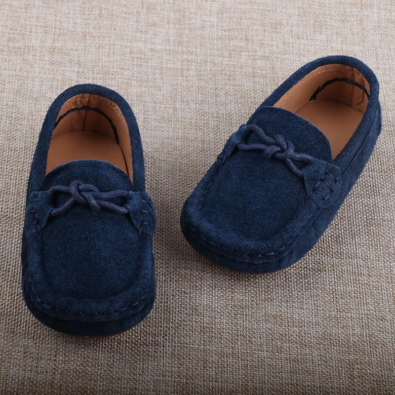 Boys flat party wear leather shoes