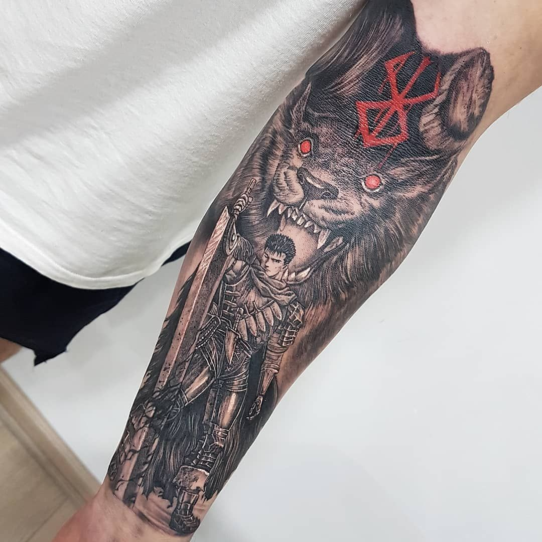 Anime Tattoos 133k On Instagram Berserk Tattoo By Gustavoferrer2gc Follow Animemasterink For More Tur Anime Tattoos Berserker Tattoo Berserk