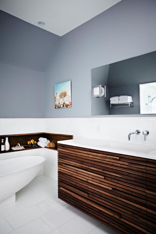blau-grau mit holz <3 @theresaholtkamp | Badezimmer ...